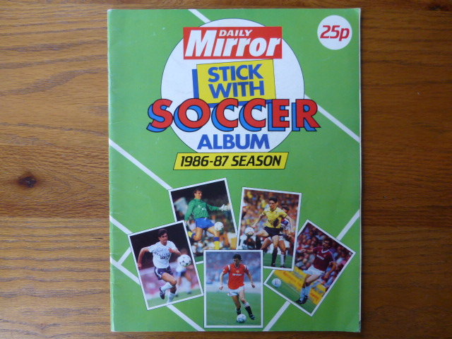 Daily Mirror Stick With Soccer 1986/87 Incomplete Album