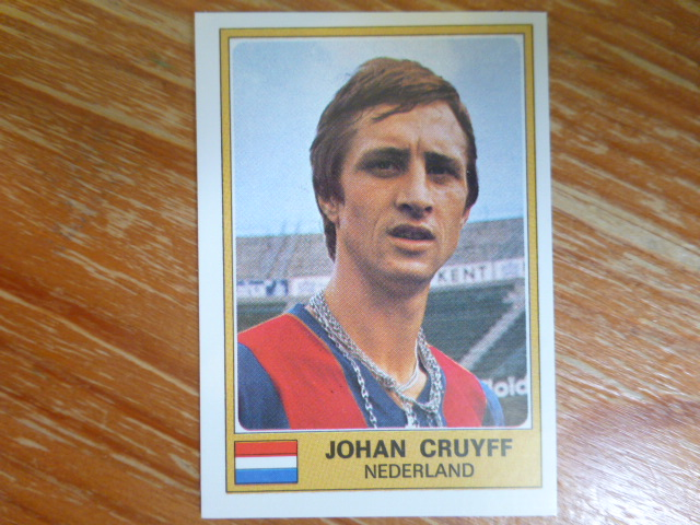 Panini Euro Football 76/77 Sticker- Johan Cruyff