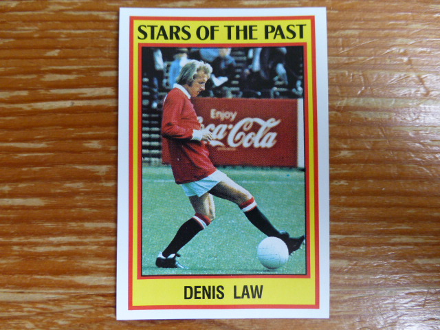 Panini Football 85 Sticker - Denis Law
