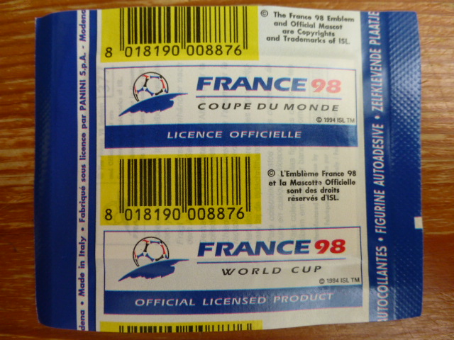 Panini France 98 Sticker Pack - Argetinian Version