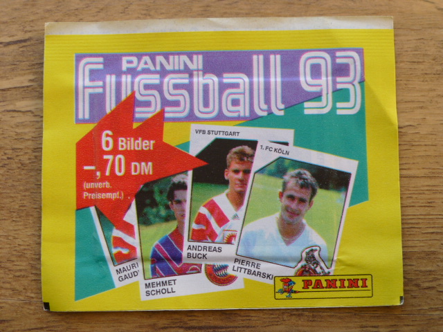 Panini Fussball 93 Sticker Pack (Germany)