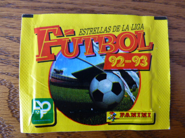 Panini Futbol 93 Sticker Pack (Spain)