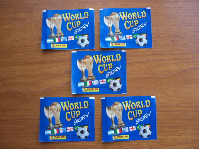 Panini World Cup Story - 5 Unopened Packs